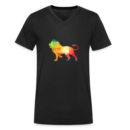 lion - Mannen bio T-shirt met V-hals van Stanley & Stella