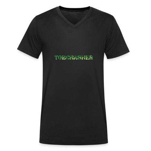 Tshirt Green triangles big - Männer Bio-T-Shirt mit V-Ausschnitt von Stanley & Stella