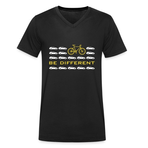 be different Auto Fahrrad Bike car anders einzig - Men's Organic V-Neck T-Shirt by Stanley & Stella