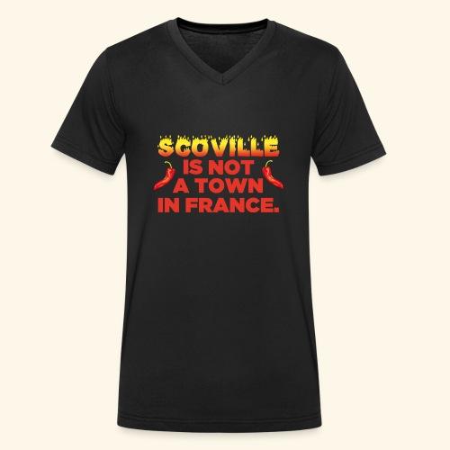 Chili T-Shirt Scoville is not a town in France - Männer Bio-T-Shirt mit V-Ausschnitt von Stanley & Stella