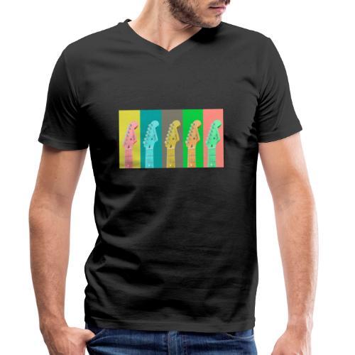 Colorful Guitar Gathering by #OneCreativeArts - Männer Bio-T-Shirt mit V-Ausschnitt von Stanley & Stella
