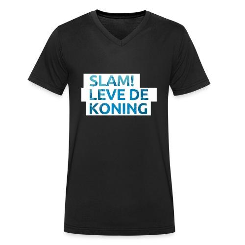 Slam leve de koning! - Mannen bio T-shirt met V-hals van Stanley & Stella