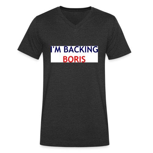 Backing Boris - Boxer Shirts - Men's Organic V-Neck T-Shirt by Stanley & Stella
