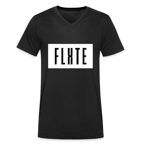 FLxTE logo - Männer Bio-T-Shirt mit V-Ausschnitt von Stanley & Stella