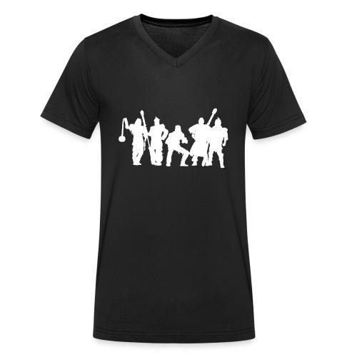 Jugger Schattenspieler weiss - Männer Bio-T-Shirt mit V-Ausschnitt von Stanley & Stella