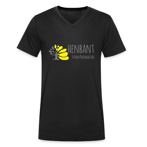 henbant logo - Men's Organic V-Neck T-Shirt by Stanley & Stella