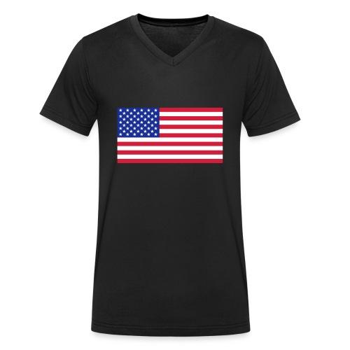USA / United States - Mannen bio T-shirt met V-hals van Stanley & Stella