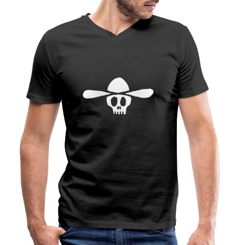 Totenkopf Kauboi - Männer Bio-T-Shirt mit V-Ausschnitt von Stanley & Stella