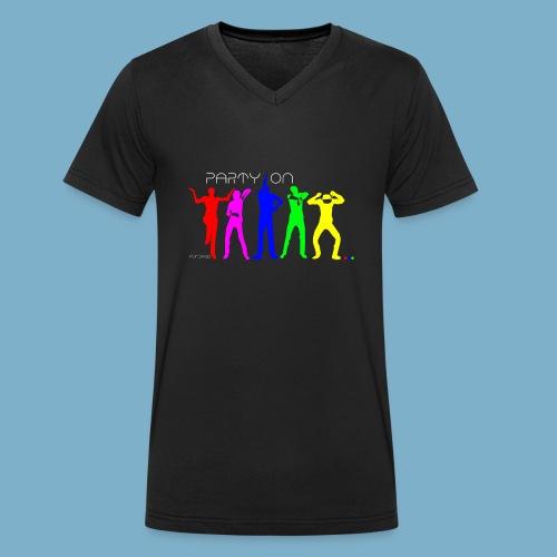 Party On - Männer Bio-T-Shirt mit V-Ausschnitt von Stanley & Stella