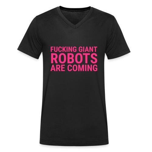 Giant Robots are Coming - Männer Bio-T-Shirt mit V-Ausschnitt von Stanley & Stella