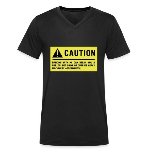 Caution - Männer Bio-T-Shirt mit V-Ausschnitt von Stanley & Stella