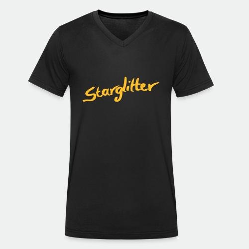 Starglitter - Lettering - Men's Organic V-Neck T-Shirt by Stanley & Stella