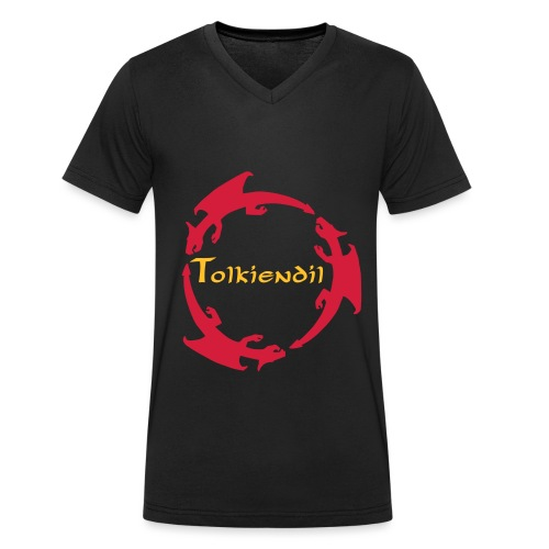 trois dragons tolkiendil forgottenuncial - T-shirt bio col V Stanley & Stella Homme