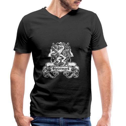 Steirischer Panther Banner Geschenk Steiermark - Männer Bio-T-Shirt mit V-Ausschnitt von Stanley & Stella