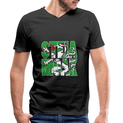 STEIAMOAK Geschenk für Steirer und Steirerin - Männer Bio-T-Shirt mit V-Ausschnitt von Stanley & Stella