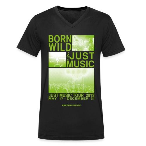 Just Music - Männer Bio-T-Shirt mit V-Ausschnitt von Stanley & Stella