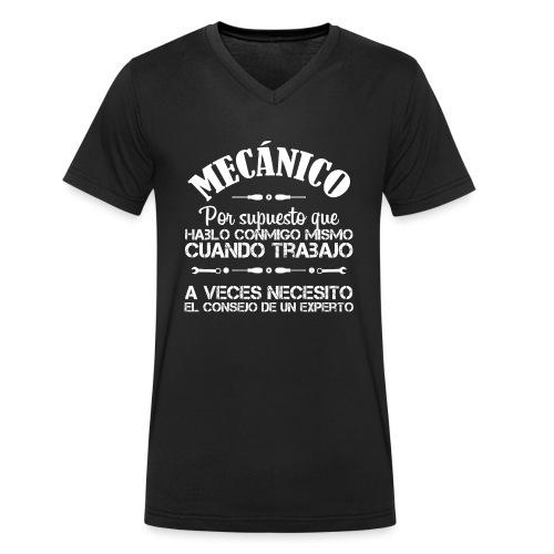 Mecánico: Necesito el consejo de un experto - Camiseta ecológica hombre con cuello de pico de Stanley & Stella