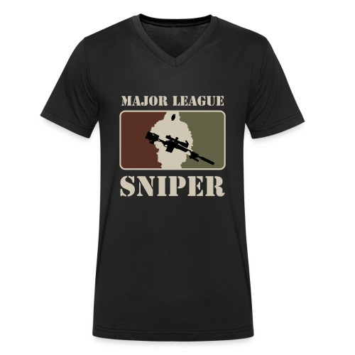 Major League Sniper - Men's Organic V-Neck T-Shirt by Stanley & Stella