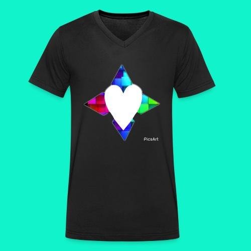 4lof - Mannen bio T-shirt met V-hals van Stanley & Stella