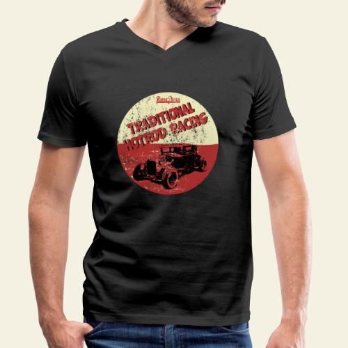 hotrod racing logo - Økologisk Stanley & Stella T-shirt med V-udskæring til herrer
