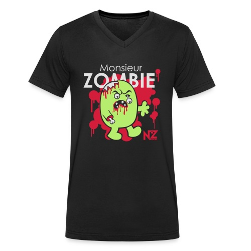 mr zombie - T-shirt bio col V Stanley & Stella Homme