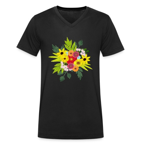 Flower_arragenment - Men's Organic V-Neck T-Shirt by Stanley & Stella