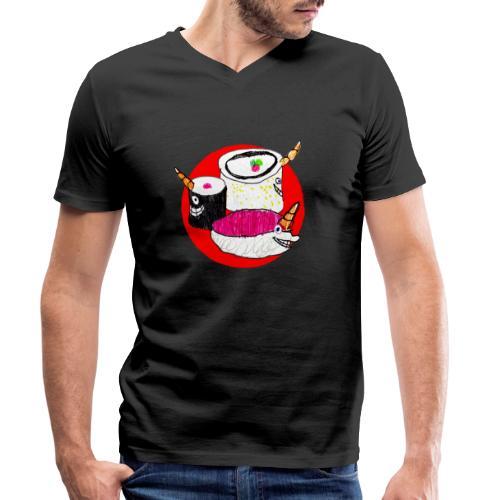 Unicorn Sushi - Men's Organic V-Neck T-Shirt by Stanley & Stella