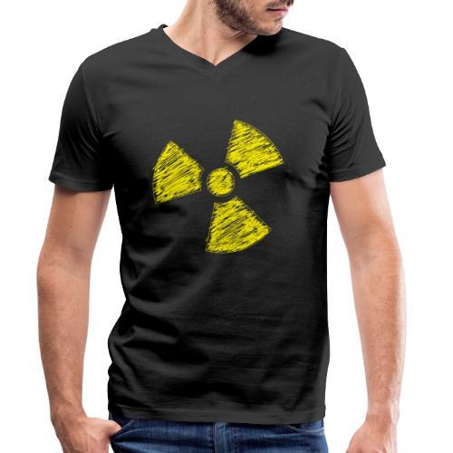 Radioactive - Mannen bio T-shirt met V-hals van Stanley & Stella