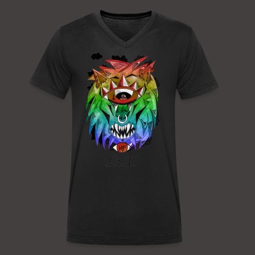 lion multi-color - T-shirt bio col V Stanley & Stella Homme