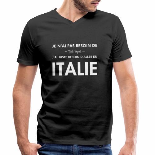 L'Italie est ma thérapie - T-shirt bio col V Stanley & Stella Homme