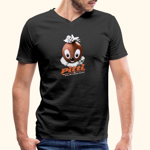 Pittiplatsch 3D Ach, du meine Nase auf dunkel - Männer Bio-T-Shirt mit V-Ausschnitt von Stanley & Stella