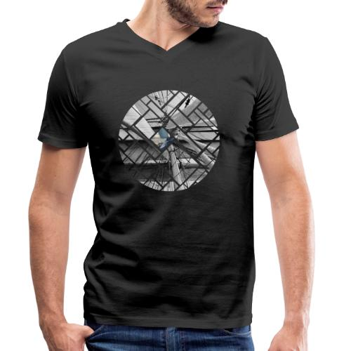Segelschiff Grafisches Design - Männer Bio-T-Shirt mit V-Ausschnitt von Stanley & Stella