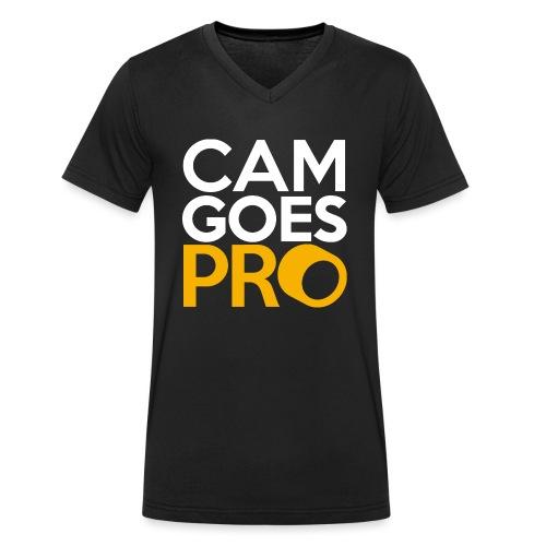 CamGoesPro Gold Shirt - Männer Bio-T-Shirt mit V-Ausschnitt von Stanley & Stella