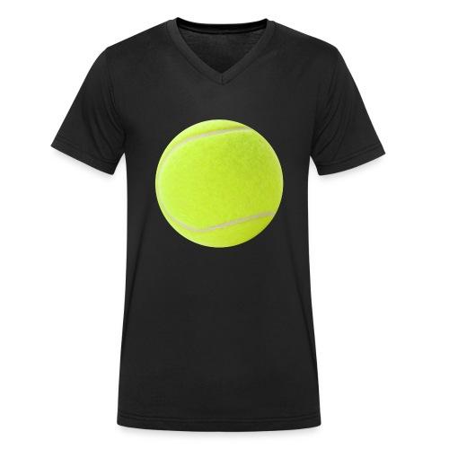 Pelota Padel / Tenis - Camiseta ecológica hombre con cuello de pico de Stanley & Stella