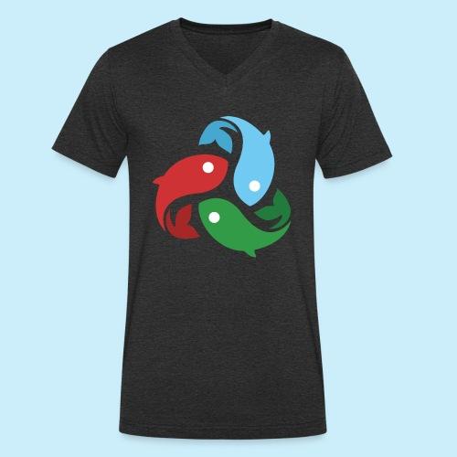 De fiskede fisk - Økologisk Stanley & Stella T-shirt med V-udskæring til herrer