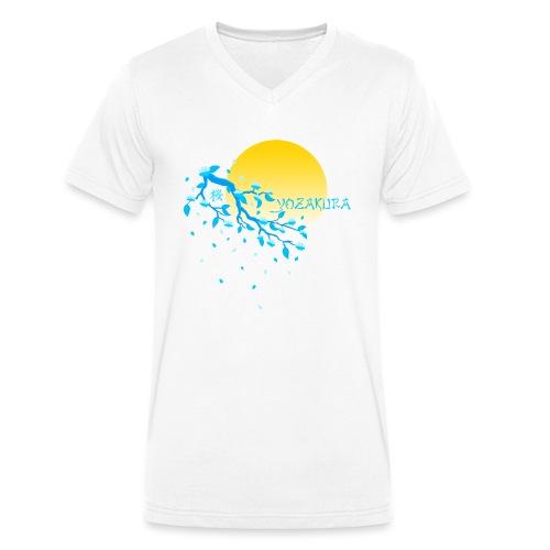 Cherry Blossom Festval Full Moon 2 - Männer Bio-T-Shirt mit V-Ausschnitt von Stanley & Stella