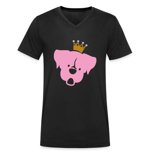 Prinz Poldi rosa - Männer Bio-T-Shirt mit V-Ausschnitt von Stanley & Stella