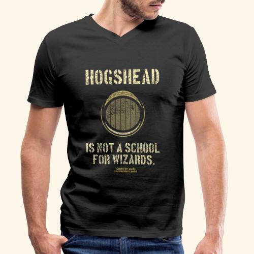 Whisky Spruch Hogshead Is Not A School For Wizards - Männer Bio-T-Shirt mit V-Ausschnitt von Stanley & Stella