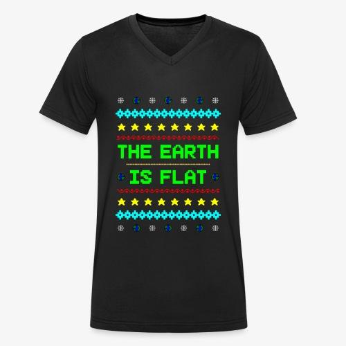 Earth is flat Ugly Christmas - Männer Bio-T-Shirt mit V-Ausschnitt von Stanley & Stella