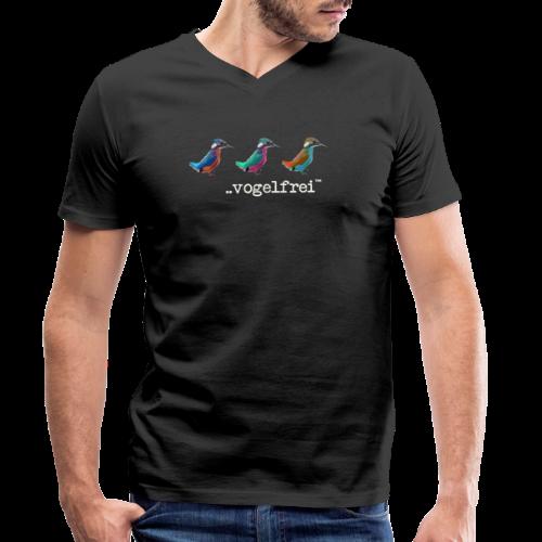 geweihbaer Vogelfrei - Männer Bio-T-Shirt mit V-Ausschnitt von Stanley & Stella