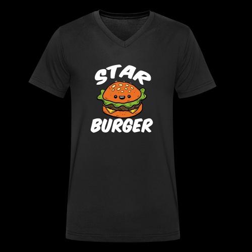 Star Burger Brand - Mannen bio T-shirt met V-hals van Stanley & Stella