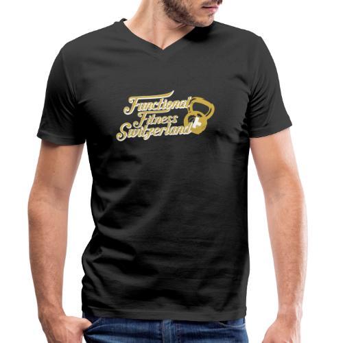 Kettlebell Nation - Functional Fitness Switzerland - Männer Bio-T-Shirt mit V-Ausschnitt von Stanley & Stella