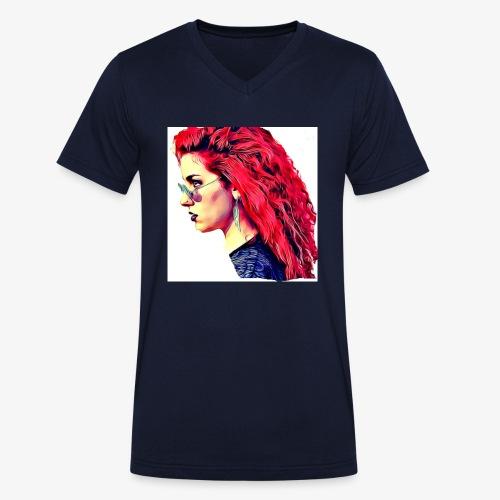 MINERVA - Camiseta ecológica hombre con cuello de pico de Stanley & Stella