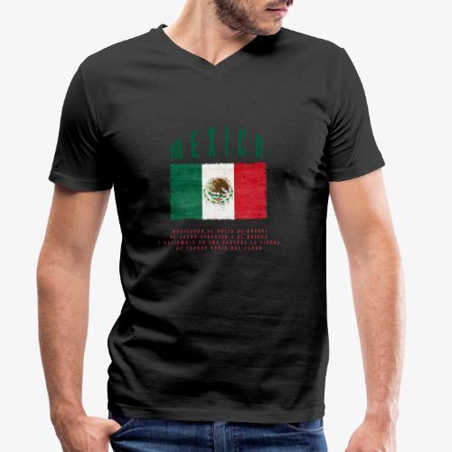 Mexican Flag Bandera Mexico - Männer Bio-T-Shirt mit V-Ausschnitt von Stanley & Stella