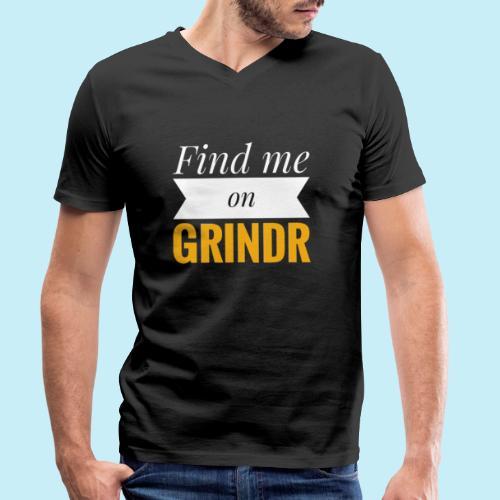 Trouve moi sur Grindr - T-shirt bio col V Stanley & Stella Homme