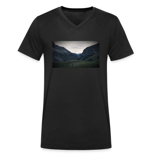 Travel - Mannen bio T-shirt met V-hals van Stanley & Stella