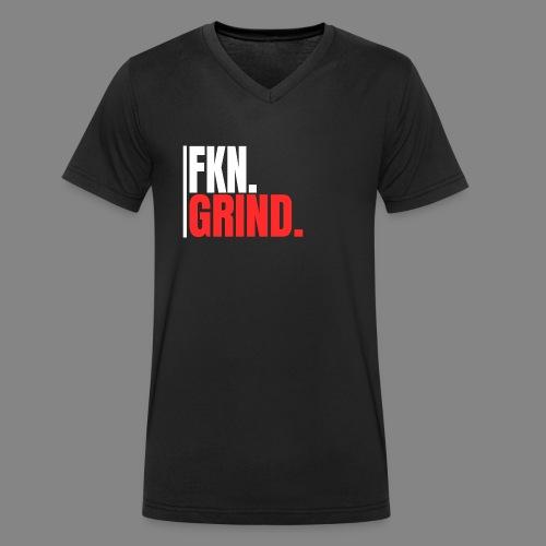 FKN.GRIND. - Männer Bio-T-Shirt mit V-Ausschnitt von Stanley & Stella