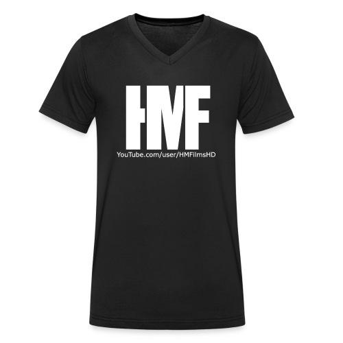 HMFilmsHD Weiß - Männer Bio-T-Shirt mit V-Ausschnitt von Stanley & Stella