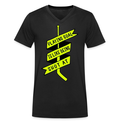 playing_goal_is_like_bein - Men's Organic V-Neck T-Shirt by Stanley & Stella