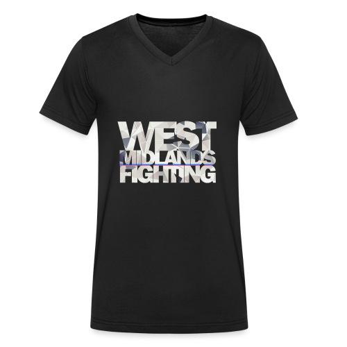 WMF low poly light - Men's Organic V-Neck T-Shirt by Stanley & Stella